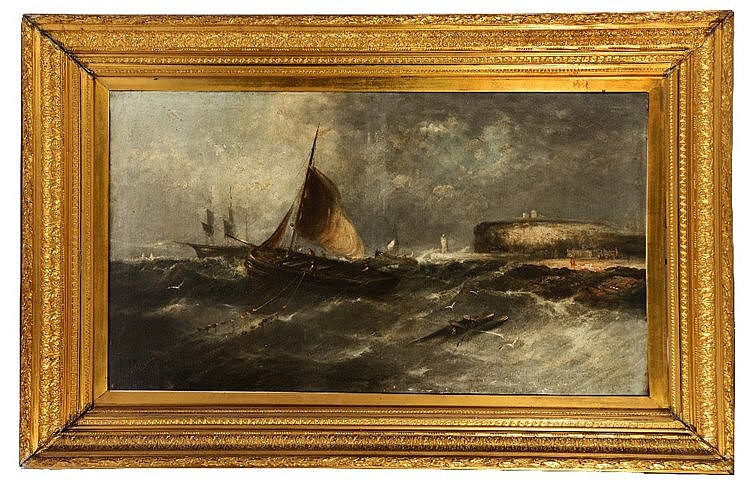 WILLIAM HARRY WILLIAMSON (1820-1883) A fishing vessel in choppy seas o