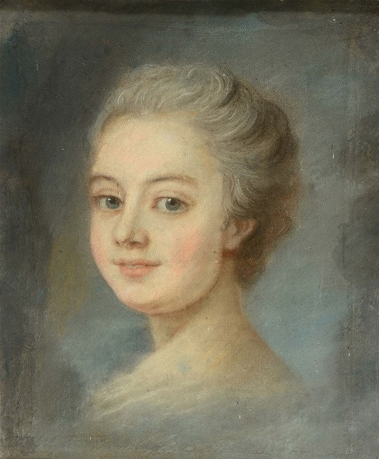 19TH CENTURY FRENCH SCHOOL Head and shoulders portrait of a lady with