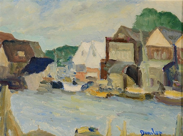RONALD OSSORY DUNLOP (1894-1973) Littlehampton, signed, oils on canvas