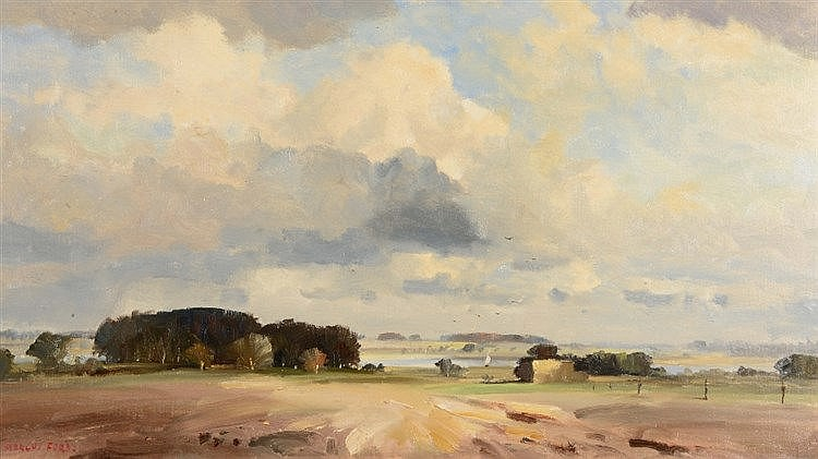 MARCUS FORD (1914-1989) 'The Blyth Valley', signed, oils on canvas, 44