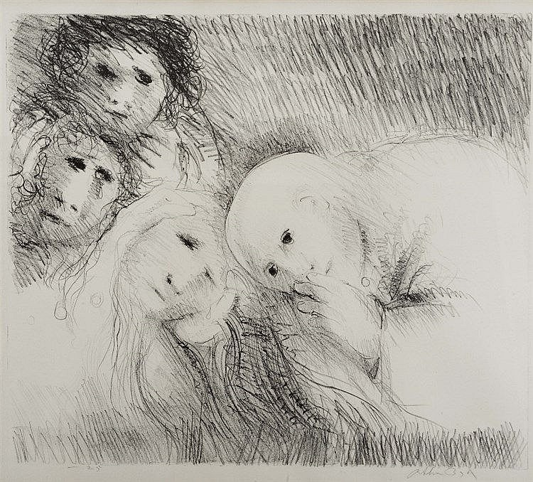 ARTHUR BOYD (1920-1999) Four figures, lithograph, pencil signed in the