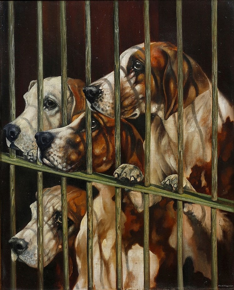 P * J * R * CHAPMAN 'Eager To Go', signed, oils on canvas