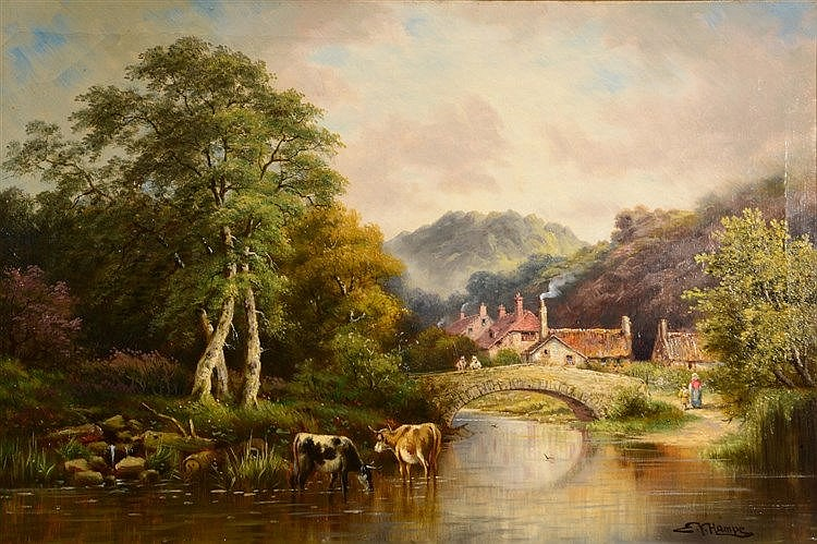 SIR EDWIN VAN HAMPe, 19TH CENTURY Cattle watering in a river landscape