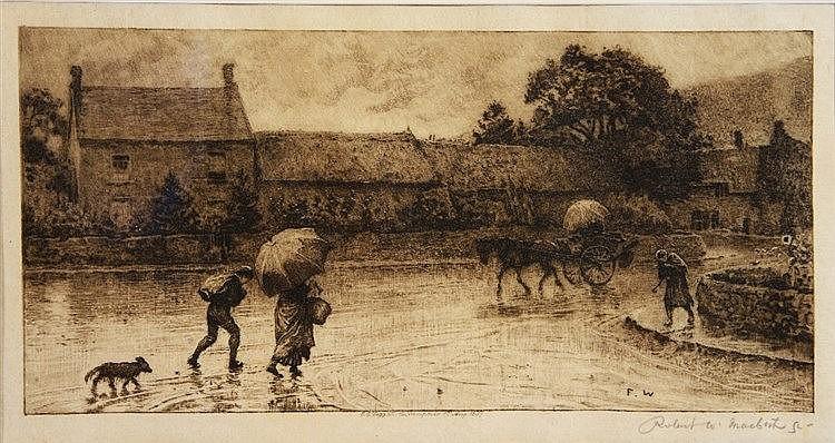 ROBERT WALKER MACBETH (1848 - 1910) 'A Rainy Day (Bisham Village)', af