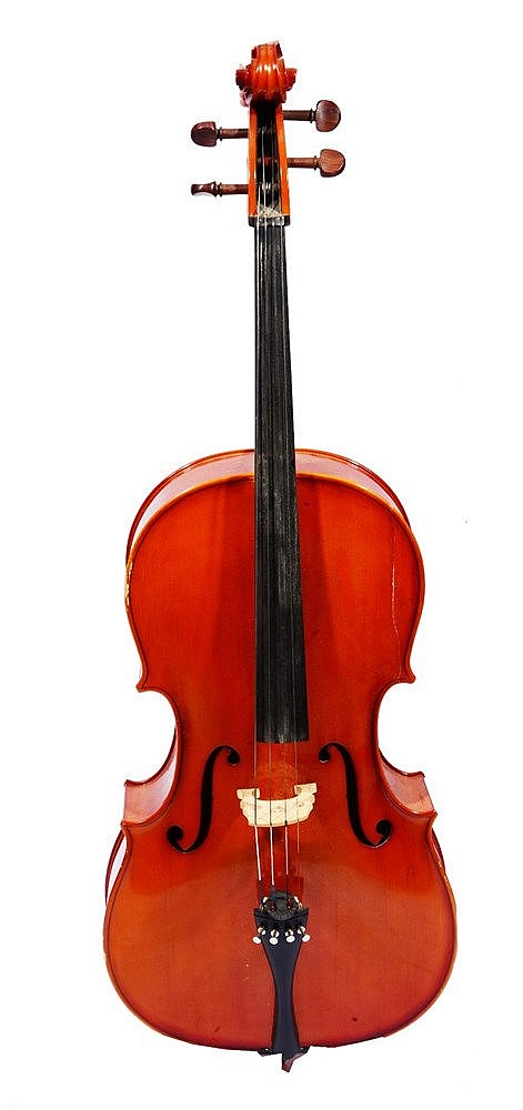 A MODERN ROMANIAN CELLO made in the workshops of Andreas Feller for Stentor