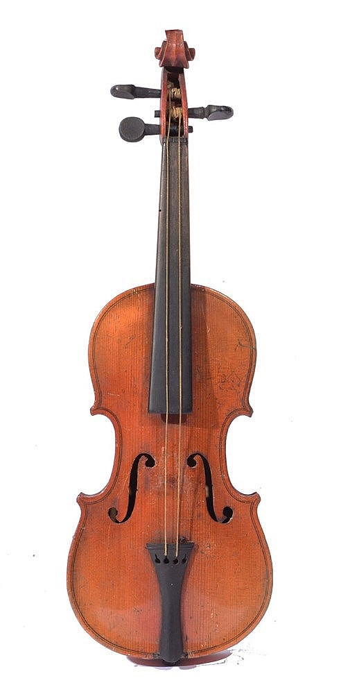 A QUARTER SIZE VIOLIN with two piece back