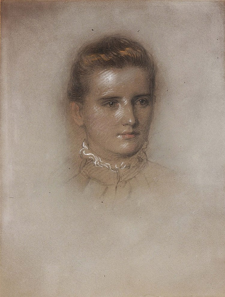 ANTOINE DE SALOMÉ (19TH CENTURY) Portrait of Marian Heptinstall, young