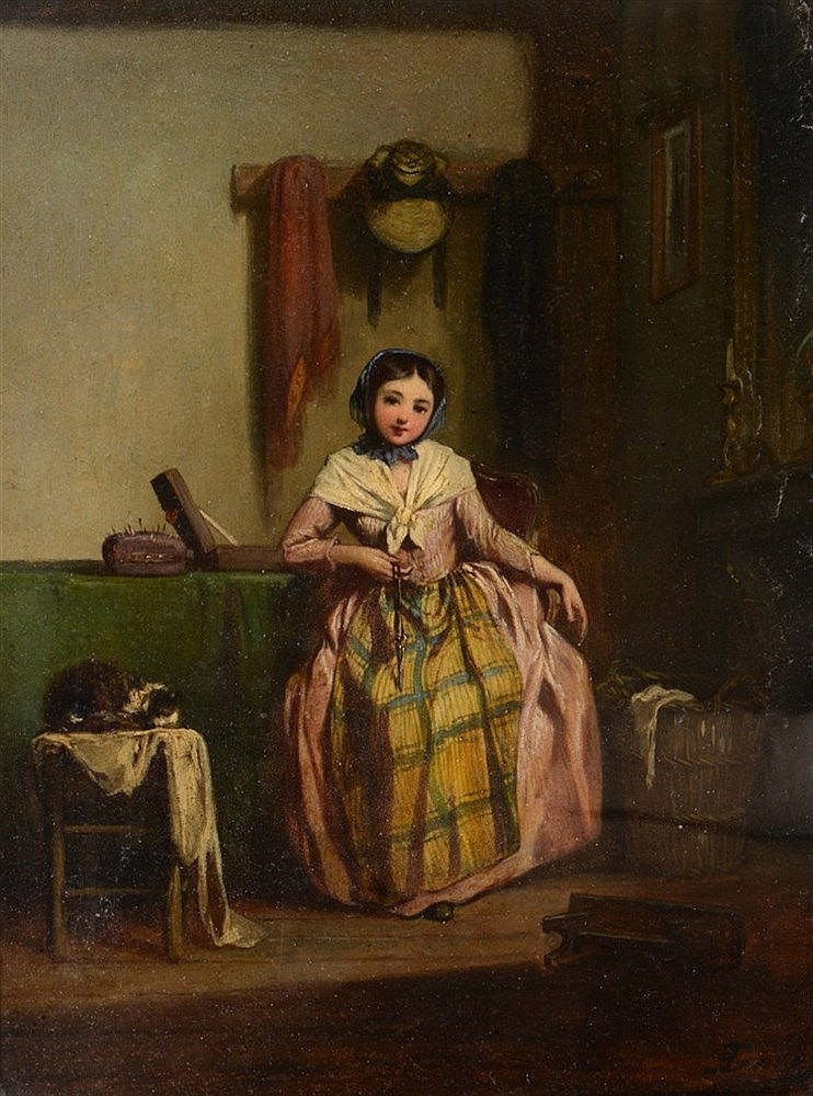 NICOLAS EDWARD GABE (1814-1865) 'My New Dress', and companion, a pair,