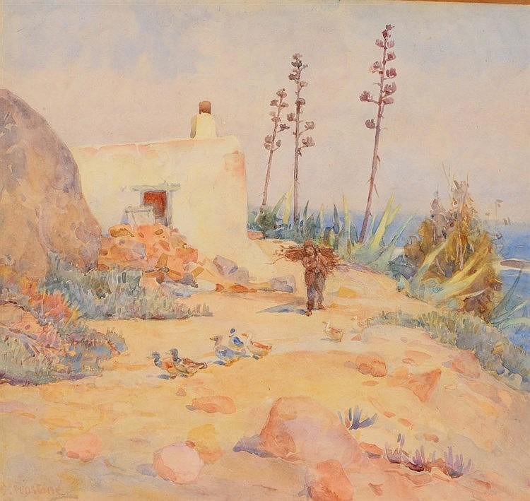 CONSTANCE PENSTONE (1865-1928) 'Van Riebeecks Blockhouse', signed, als