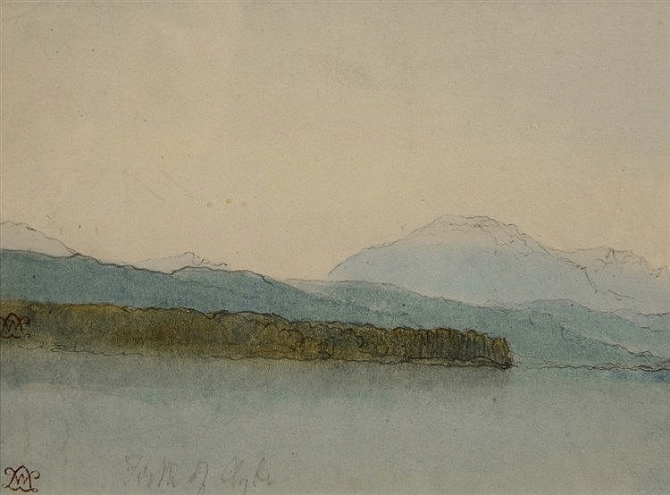 WILLIAM LEIGHTON LEITCH (1804-1883) 'The Firth of Clyde', stamped with
