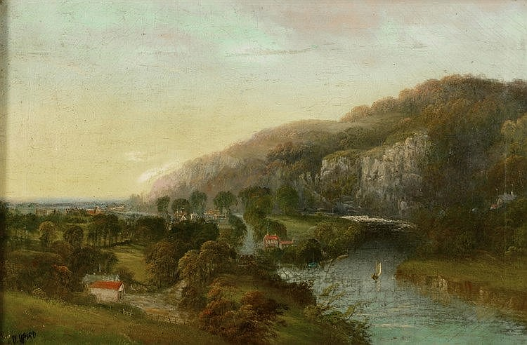 D * WARD 'Weir Head and Calstock on the Tamar', signed, oils on canvas