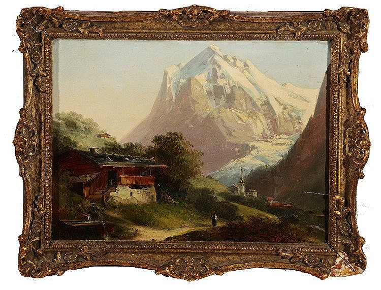 SWISS SCHOOL, EARLY 20TH CENTURY 'Grindelwald, Le Matterhorn', inscrib