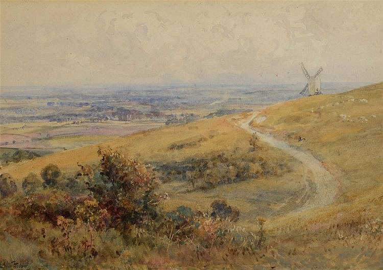 ERNEST ALBERT WATERLOW (1850 - 1919) 'Sussex Downs', signed, inscribed