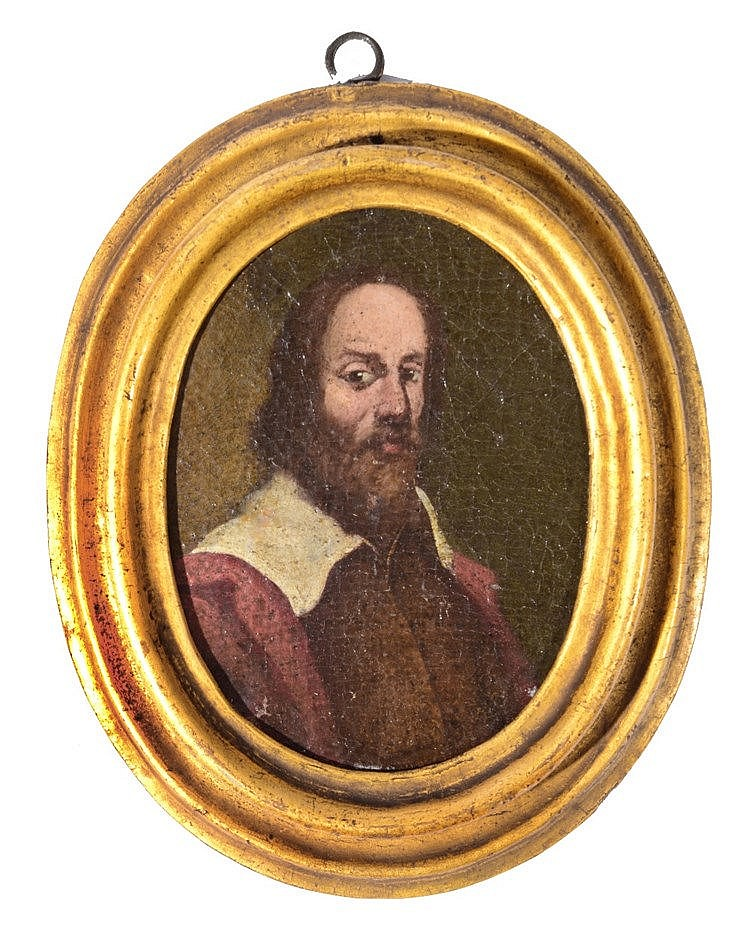 CONTINENTAL SCHOOL (LATE C17TH) Portrait of a bearded man, oil on canv