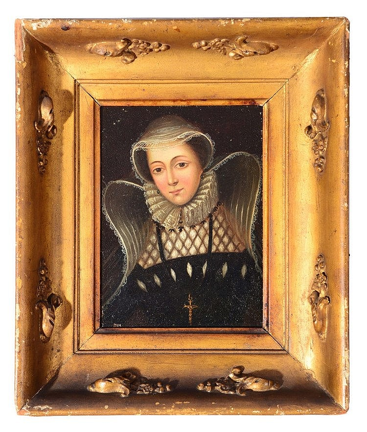 CONTINENTAL SCHOOL (LATE C17TH) Portrait of a lady, with lace ruff, bo