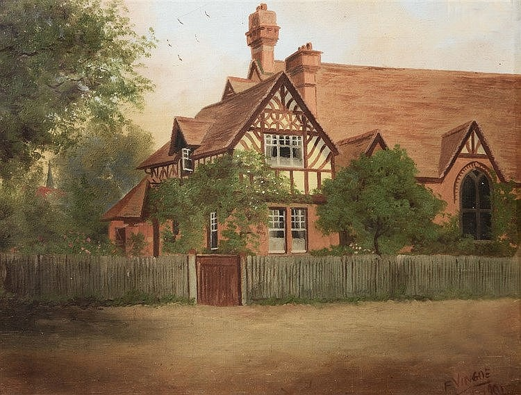 FRANCIS VINGOE (1879-1940) Views in Sonning, (a pair) signed & dated 1