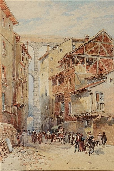 ALEXANDER HENRY HALLAM MURRAY (1854-1934) 'Roman Aquaduct, Segovia', s