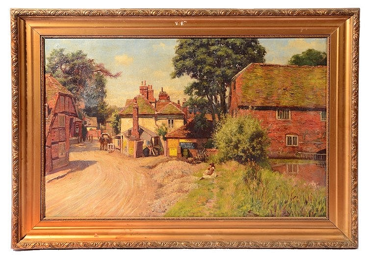 CHARLES DUNCAN HAY-CAMPBELL (1867-1936) Pangbourne, signed, oil on can