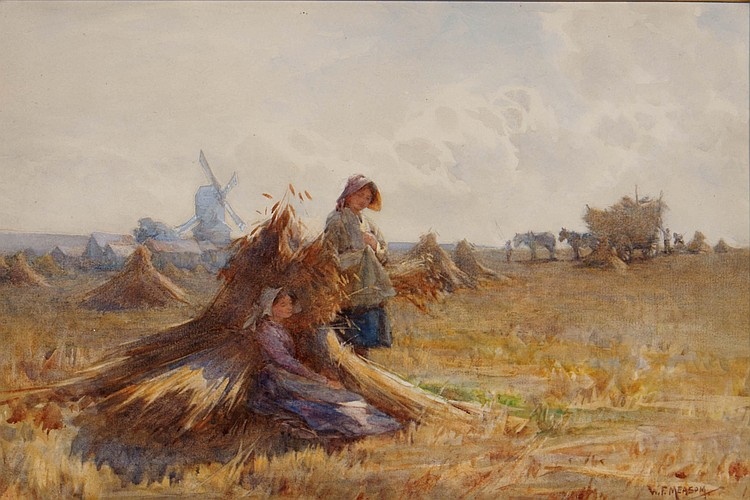 WILLIAM FREDERICK MEASOM (BRITISH, 1875-?) Harvest