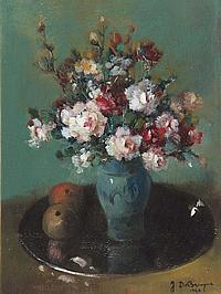 JORIS DE BRUYNE (1896-1965) Still life of flowers