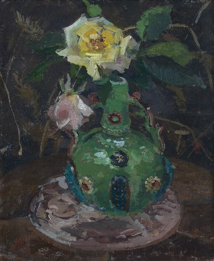 Mary Jackson (British, b.1936)  Antique Vase  monogrammed (lower left)