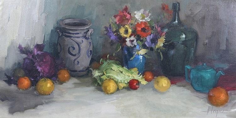 HARRY ZEEGERS (b. 1929) Still life - a vase of fl