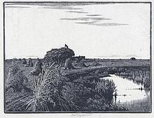 CHARLES WILLIAM TAYLOR (1878-1960) Harvest time,