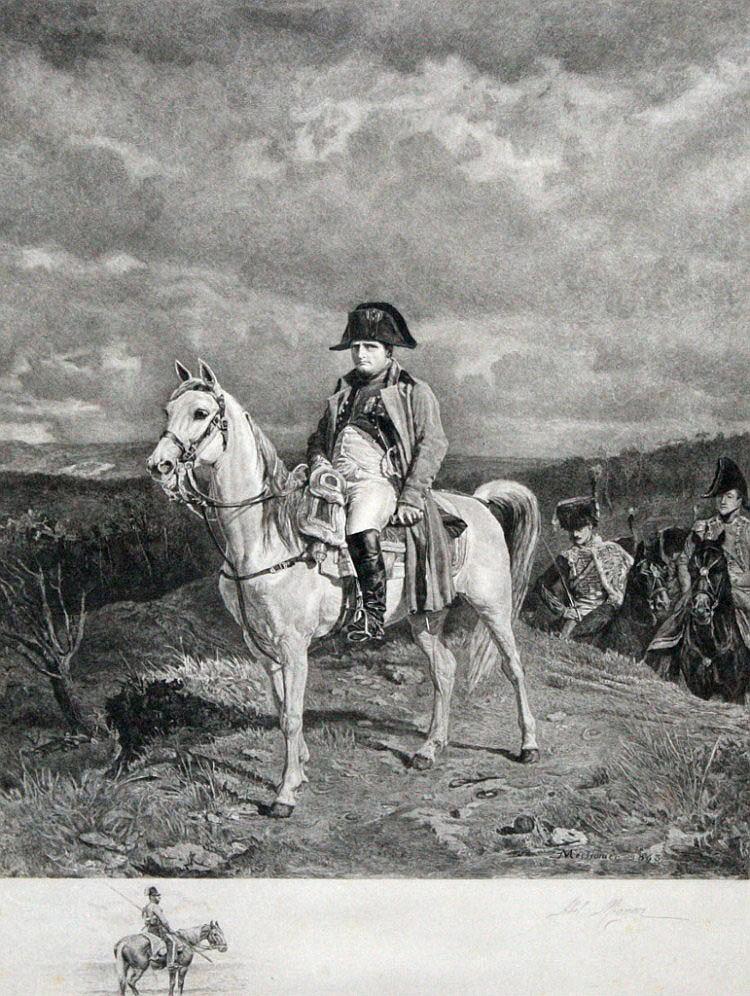 ABEL MIGNON AFTER MEISSONIER Napoleon on