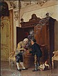 LUIGI CROSIO (1835-1915) A welcome drink, signed, Luigi Crosio, Click for value