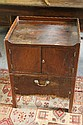 A GEORGE III MAHOGANY TRAY TOP COMMODE with
