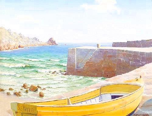 DENYS LAW (1907-1981) Lamorna Cove with the yellow
