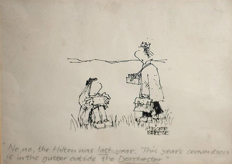 Hector Breeze (b.1928)  'No, No, The Hilton was Last Year'