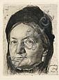 KARL STAUFFER-BERN (1857-1891) Portrait of Luise, Karl Stauffer-Bern, Click for value