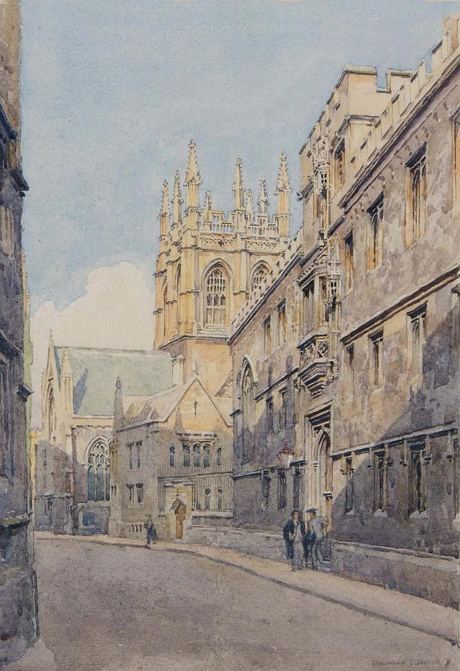 BERNARD CECIL GOTCH (b. 1876) Merton College Tower