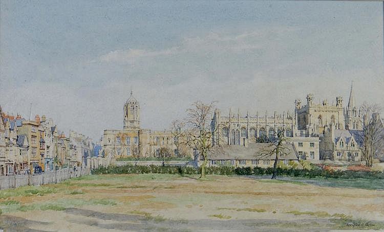 BERNARD CECIL GOTCH (b. 1876) View of Christchurch
