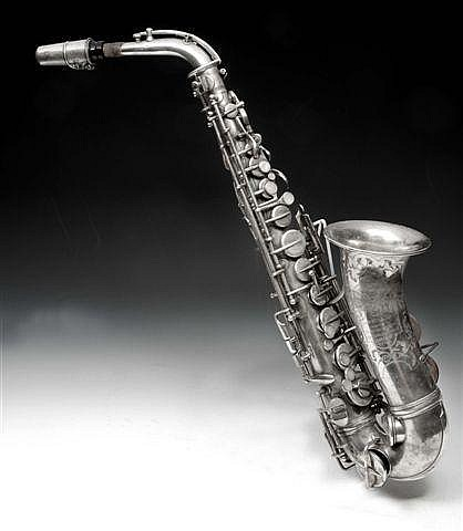 A SAXOPHONE by Hawkes & Son, Piccadilly, London,