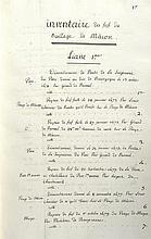 MANUSCRIT] - BOURGOGNE] - Inventaire des fiefs du bailliage de Mâcon. - Inv