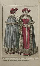 MODE] - Costumes parisiens, 1821 à 1834. . In-8, env. 140 pl. h. t. en coul