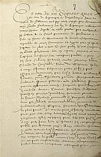 MANUSCRIT] - FRANCHE-COMTE] - Rôle des propriétés de Gesans. , XVIIe s.. In