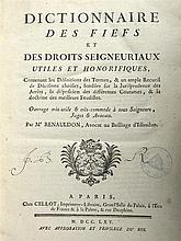 RENAULDON - Dictionnaire des fiefs et des droits seigneuriaux utiles et hon