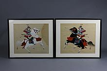 Pair of Fine Quality Japanese Signed Paintings