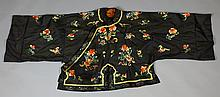 Chinese Qing Dynasty Silk Embroidered Robe/Jacket