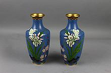 Antique Pair of Chinese Cloisonne Vases