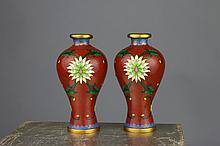Japanese Cloisonne Baluster Vases