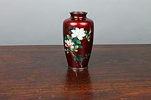 Japanese Cloisonne Vase Stamped Sato Japan