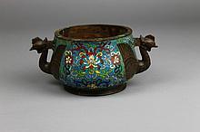 Antique Chinese Cloisonne Censer