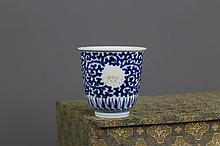 Chinese Qing Dynasty B/W Beaker