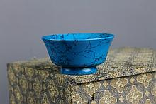 Chinese Turquoise Footed Bowl