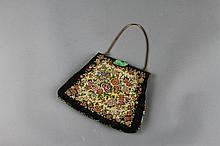 Chinese Embroidered Purse with Jadeite Clasp