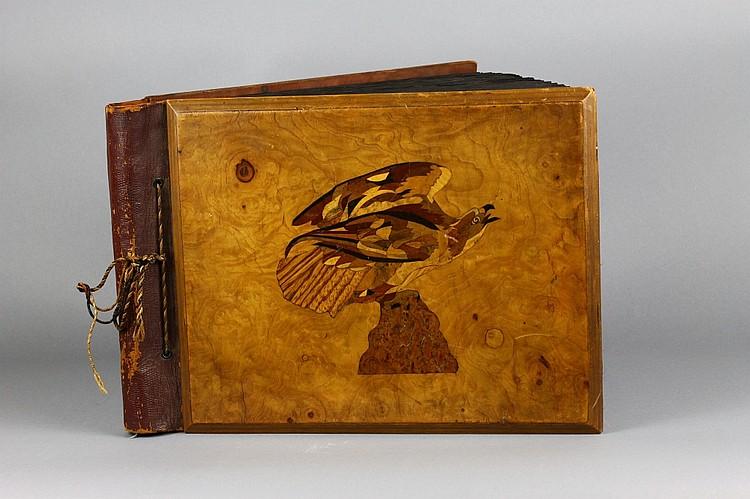Antique Eagle 19th c. Wood Turnbridge Photo Album